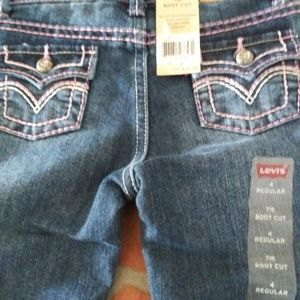 Levis 715 Boot Cut Jeans 4R Girls New